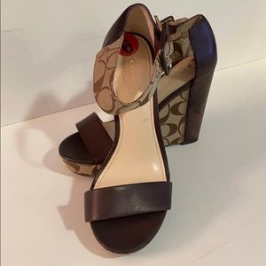 "Coach Signature ""C"" Wedges with Ankle Strap"